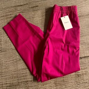 Theory Easy Trousers in Pop Fuchsia.